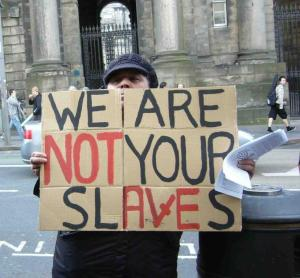 Anti-Workfare protests in the UK