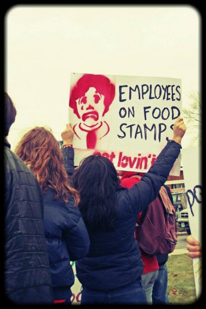 December 5, FastFoodStrike in the US. Since the mid-20th C, the welfare system has increasingly subsidized the profits of employers who pay below-subsistence wages.