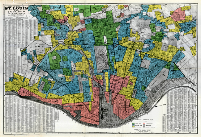 St Louis (MO) real estate redlining.